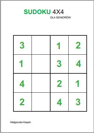 sudoku, gra i zabawa dla seniorów, gra dla seniorów, zabawa dla seniorów, sudoku dla seniorów, sudoku dla osób starszych, sudoku w Polsce, ćwiczenia sudoku, ćwiczenia sudoku dla seniorów