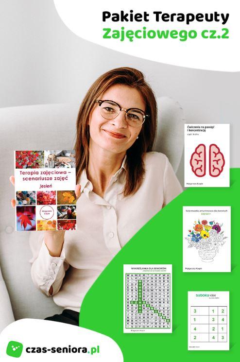 Terapia zajęciowa, terapia osób starszych, starość, terapia dla seniora, książki terapia, terapia zajęciowa książki, książki dla terapeutów zajęciowych, starzenie się, techniki pracy w terapii zajęciowej, techniki pracy z seniorami, pomysły na zajęcia dla